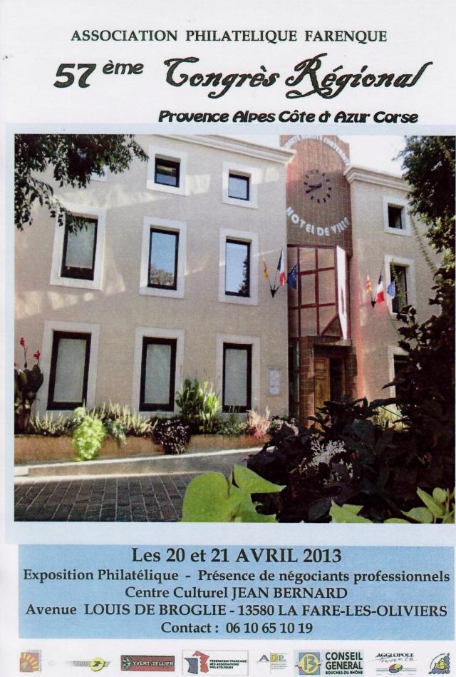 La Fare 57ème Congrés Régional 20 21 Avril 2013