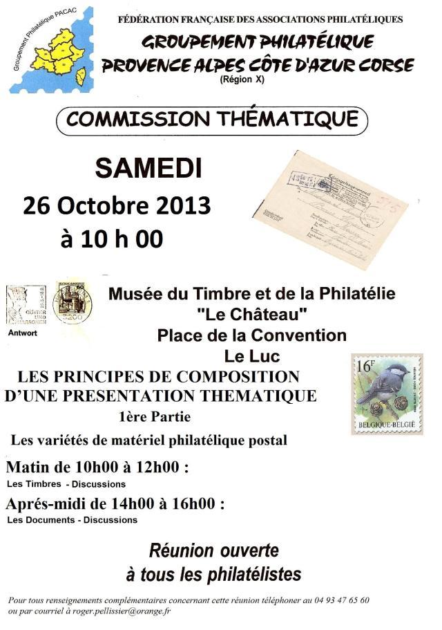 Invitation - Conférence du Samedi 26 Octobre 2013