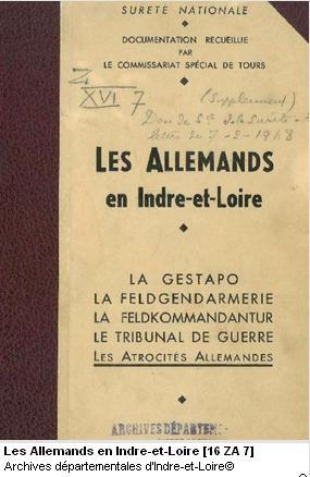 Indre et Loire - La gestapo