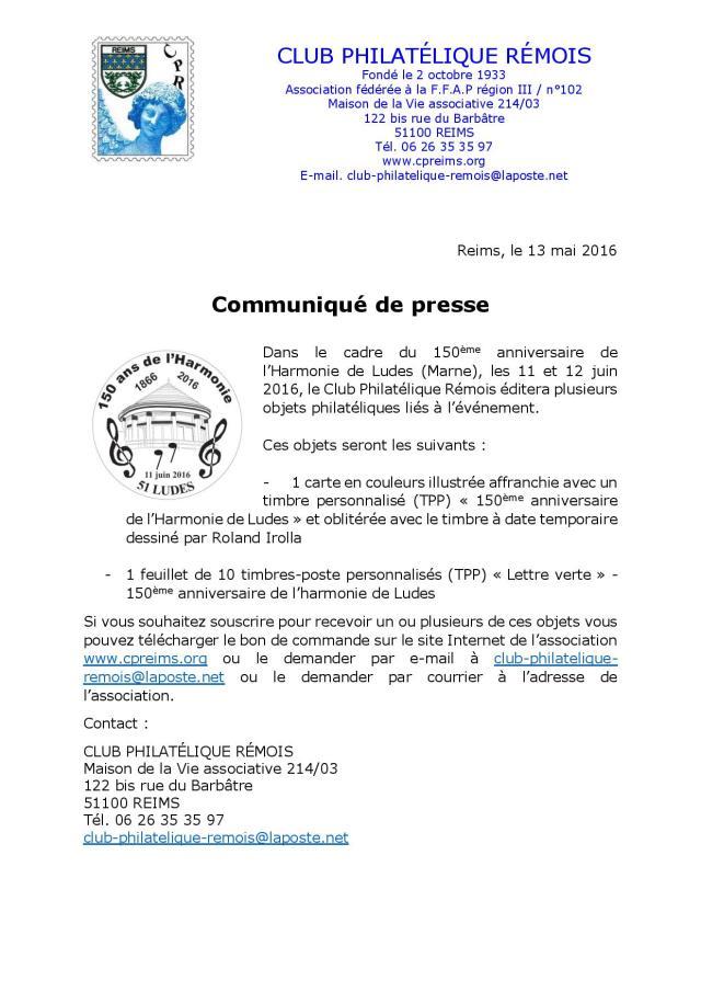 Communiqué de presse philatélique 150ème anniversaire de l harmonie de Ludes-page-001
