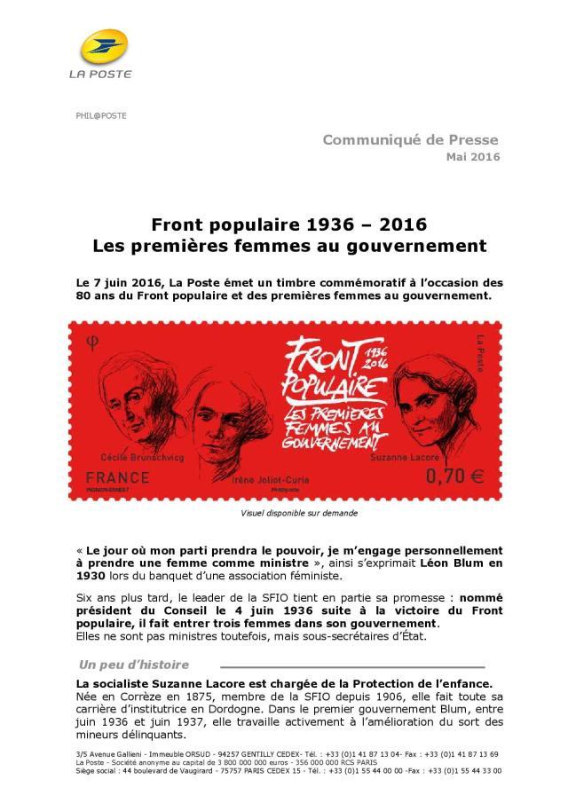le Front populaire 1936