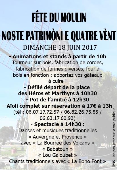 Jornée Nationale des Moulins 18 Juin