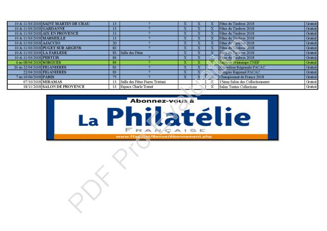 GPP Liste Exposition