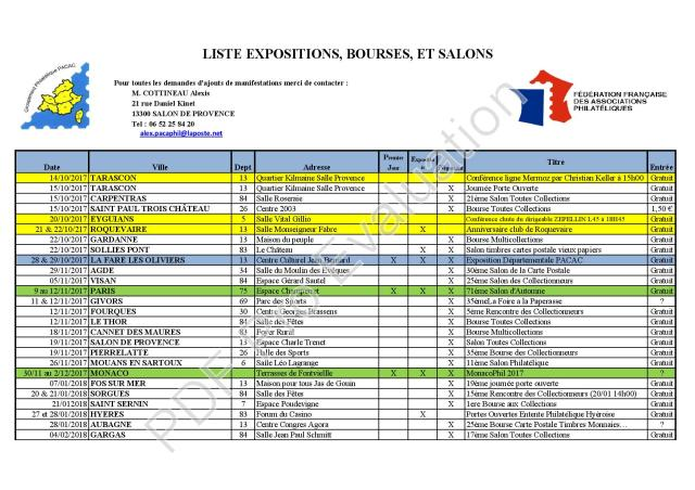GPP Liste Exposition 13-10-2017