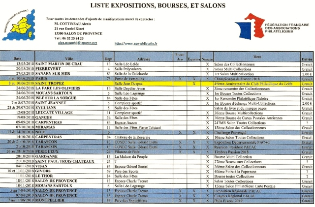 GPP Liste Exposition 8-05-2018